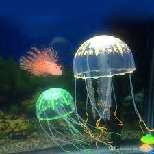 2017 8cm glowing effect fluorescent artificial jellyfish aquarium fish tank decoration ornament swim pool bath