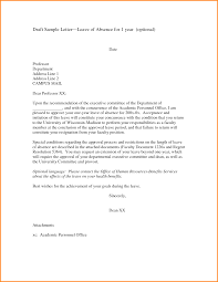 Example Of Formal Letter For Not Attending Class With Student Cv