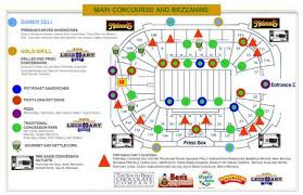 2012 Concessions Map News Game Day University Of