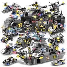 Báo giá Bộ đồ chơi xếp hình Lego Naval Aircraft Special Police Military 792  mảnh ghép, 8 hình người, 27 hình thay đổi chỉ 150.000₫