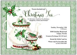 Christmas Tea Party Invitations Holiday Tea Invitation Christmas Tea By Adorableinvitations
