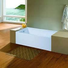 acrylic left hand drain rectangular alcove apro front non whirlpool bathtub in