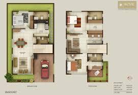 duplex house plan for 20x60 site plans