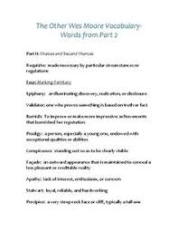 the other wes moore teaching unit vocabulary words and graphic the other wes moore vocabulary part 2