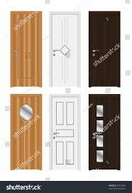 Decorating door types pics : Wooden Door Types High Detailed Realistic Stock Vector 75372862 ...