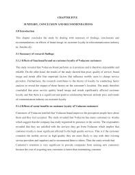O a summary o an analysis o an application as illustrated in this example Pdf Chapter Five Summary Conclusion And Recommendations 5 0 Introduction