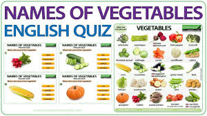 Raw Vs Cooked Vegetables Chart Vegetables English Vocabulary List And Chart With Photos
