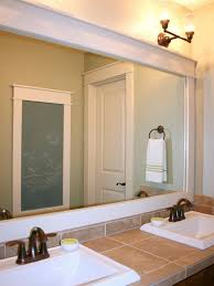 wood framed bathroom mirrors. How To Frame A Plate-Glass Wall Mirror Wood Framed Bathroom Mirrors O