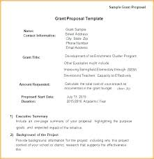 Simple Grant Proposal Template