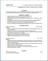 Waitress Resume Examples Simple Waiter Job Description For Resume Best Of Sample Waitress Resume