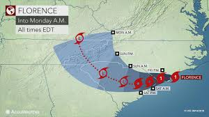 Hurricane Tracking Chart Florence Destructive Hurricane Florence To Batter The Carolinas For