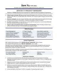 Google Spreadsheet Project Management And It Project Manager Resume ...