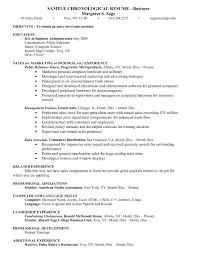 Sample Resume Objectives Business Administration New Objective For