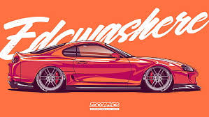 The best hd desktop wallpapers featuring wallpaper images of stunning. Hd Wallpaper Edc Graphics Toyota Supra Jdm Japanese Cars Motor Vehicle Wallpaper Flare