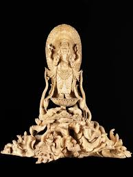 masterpiece hand carved wood standing ganesh statue 33