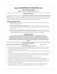 Narcotics Officer Sample Resume Adorable Sample Police Resume Combined With Police Resume Objective Resume