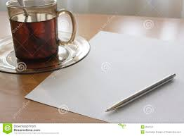 writing for a cup of tea stock image image of commercial  writing for a cup of tea