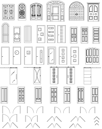 open double door drawing. ArchBlocks AutoCAD Door Block Symbols Open Double Drawing E