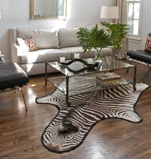 real zebra rug for your room