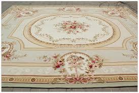 aubusson rug 9x12 pale blue greeb cream pink