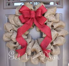 Burlap Christmas Wreath, Christmas wreath, Burlap wreath, Burlap wreath  with elegant Red Bow