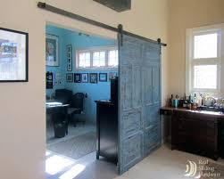 Office Barn Doors Glass Home Office Doors Barn Door Style Interior