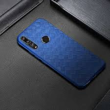 <b>Luxury</b> Weaving <b>leather case For</b> Huawei Honor 9X case back ...