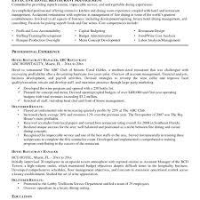 Hospitality Resume Objective Manager Objective Sidemcicekcom