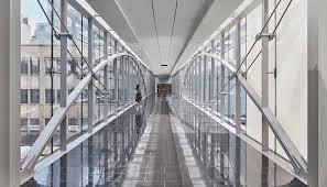 Suspended Walkway Design Som 707 Fifth Manulife Place Pedestrian Bridge