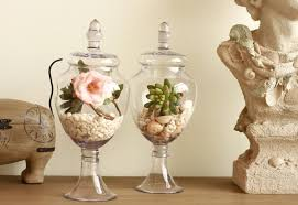 american retro transpa tall glass vase decoration furnishing articles wedding candy jar sitting room decorate two