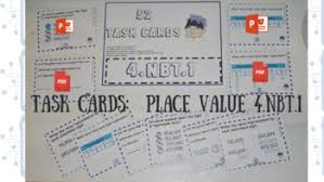 4 Nbt 1 Task Cards Worksheets Teachers Pay Teachers