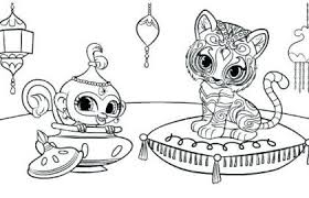 Shimmer Shine Coloring Pages And Chic Design Shimmer And Shine