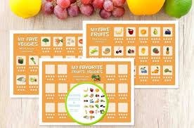 Chart Of Different Food Items Downloadable Fruits And Vegetable Chart Healthy Eating For Kids Fruits And Veggies Table Digital Fruits And Vegetable Chart Orange Theme
