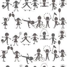 ᐈ Sagoma Bambini Immagini Di Stock Foto Sagome Bambini Stilizzati