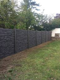 brown vinyl fence dark stone installed by liberty railing in new park horse y19 vinyl