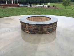 outdoor stone fire pit. Outdoor Stone Fire Pit Concrete Circular Patio Ridge Virginia N
