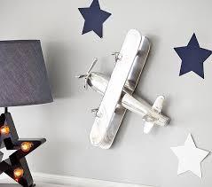 polished nickel airplane decor kids