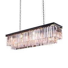 impressive odeon glass fringe rectangular chandelier amusing