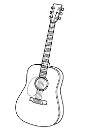 Small Picture Musical Instruments Acoustic Guitar Coloring Pages Bulk Color