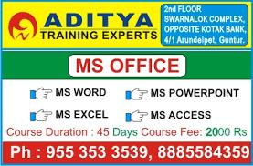 Microsoft Office Curriculum Ms Office Training Institute In Guntur Best Ms Office
