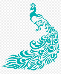 Fabric Painting Designs Of Birds Peacock Clipart Border Peacock Fabric Painting Designs