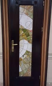 custom stained glass door insert