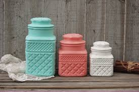Lime Green Kitchen Canisters Mint Green Kitchen Accessories Cute Pastel Mint Green Tufted