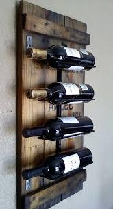 wall wine rack wood woodland imports 4 bottle mount mounted plans wooden wall wine rack wood