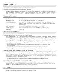 Sample Resume For Network Engineer Gallery Creawizard Com