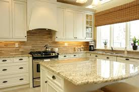 Granite Countertops And Backsplash Ideas Fascinating Kitchen Backsplash Black Granite Countertops White Cabinets With