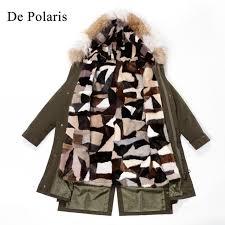 authentic mink coats jacket winter womens women real natural rac fur lining winter jacket long