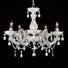 white crystal chandelier to enlarge