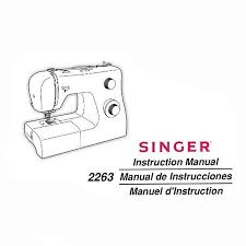 Singer Simple Sewing Machine Manual 2263