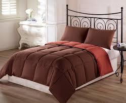brown and burnt orange bedding 3 pc solid comforter set